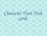 Character traits taskcards