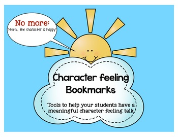Character traits/feelings bookmark