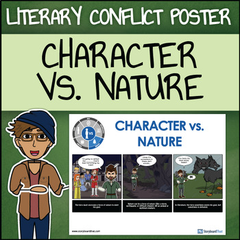 Character vs. Nature - Man vs. Nature Poster in a Storyboard