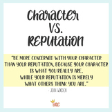 Character vs Reputation Lesson Plan HS