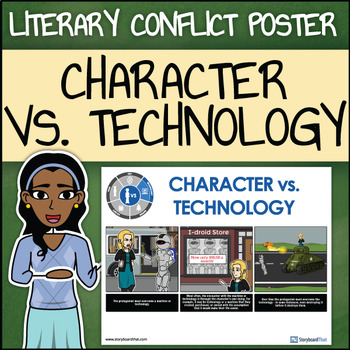 Character vs.Technology - Man vs. Technology Poster in a S
