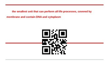 Characteristic of Life Interactive QR Vocabulary Flashcards