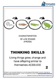 Living Things: Characteristics Of Life Stages (Frogs) ACSSU030