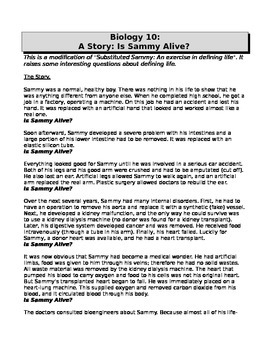Characteristics Of Living Things-Sammy's Story