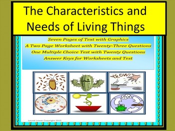 characteristics of living things by living things teachers pay teachers. Black Bedroom Furniture Sets. Home Design Ideas