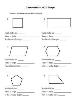 2d Shapes Worksheets | Teachers Pay Teachers