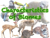 Characteristics of Biomes Cards