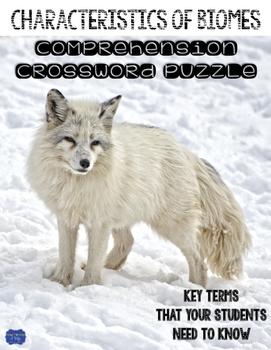 Characteristics of Biomes Comprehension Crossword