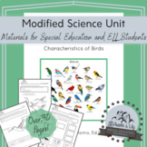 Modified Science Unit: Characteristics of Birds