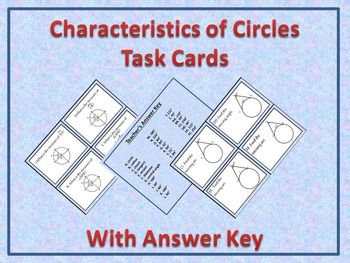 Characteristics of Circles Task Cards