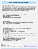 Characteristics of Dyslexia Guide