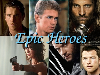 Characteristics of Epics and Epic Heroes powerpoint notes lesson