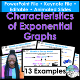 Characteristics of Exponential Graphs PowerPoint/Keynote P
