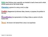 Characteristics of Fables