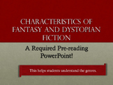 Characteristics of Fantasy and Dystopian Literature—Grades 7-9