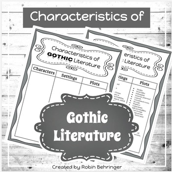 Characteristics of GOTHIC Literature