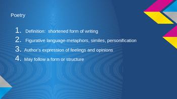 Characteristics of Genre