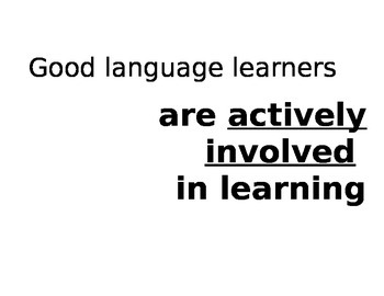 Characteristics of Good Language Learners