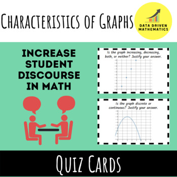 Characteristics of Graphs Quiz Cards Activity