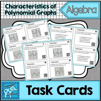 Characteristics of Polynomial Function Graphs Task Cards