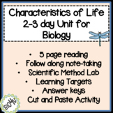 Characteristics of Life 2-3 Day Unit
