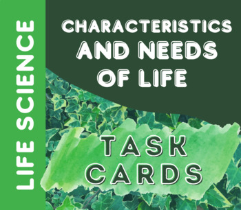 Characteristics of Life AND Introduction to Cells TASK CARDS!