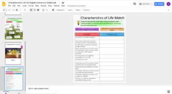 Characteristics of Life Digital Interactive Notebook