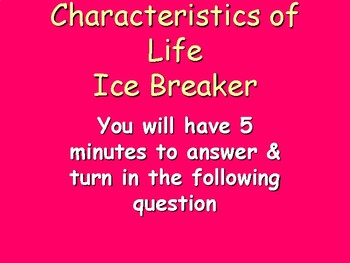 Characteristics of Life Ice Breaker