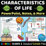 Characteristics of Life Interactive PowerPoint, Notes, Kah