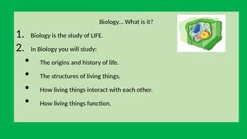 Characteristics of Life Notes Powerpoint