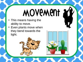 Characteristics of Life Powerpoint, Living or Nonliving Powerpoint