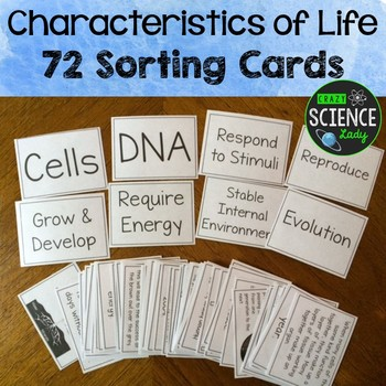 Characteristics of Life Sorting Cards