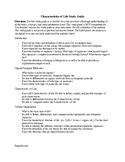 Characteristics of Life Study Guide