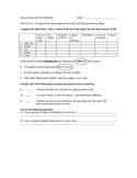 Characteristics of Life Worksheet