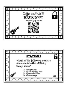 Characteristics of Life and Cells Digital Breakout