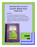 Characteristics of Life and Scientific Method Vocab Cards - Keystone Biology