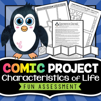 Characteristics of Living Things - Comic Strip Project