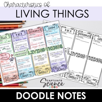 Characteristics of Living Things Doodle Notes