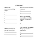 Characteristics of Living Things-Exit Ticket WS for Powerpoint
