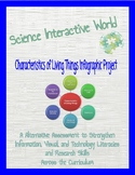Characteristics of Living Things Infographic Project