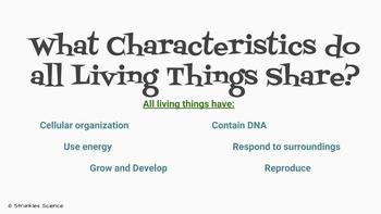 Characteristics of Living Things PPT- What is Life? EDITABLE