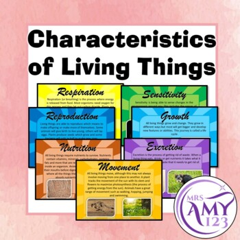 Characteristics of Living Things Posters or Presentation