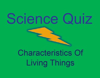 Characteristics of Living Things Quiz Show Game PowerPoint