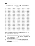 Characteristics of Living Things Vocabulary Word Search