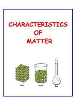 Characteristics of Matter