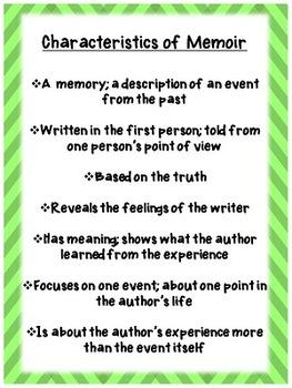 Characteristics of Memoir Poster