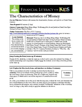 Lesson 6: The Characteristics of Money