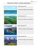 Characteristics of Mountains, Oceans, Islands and Rivers