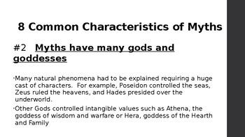 Characteristics of Myths
