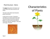 Characteristics of Plants Review Book